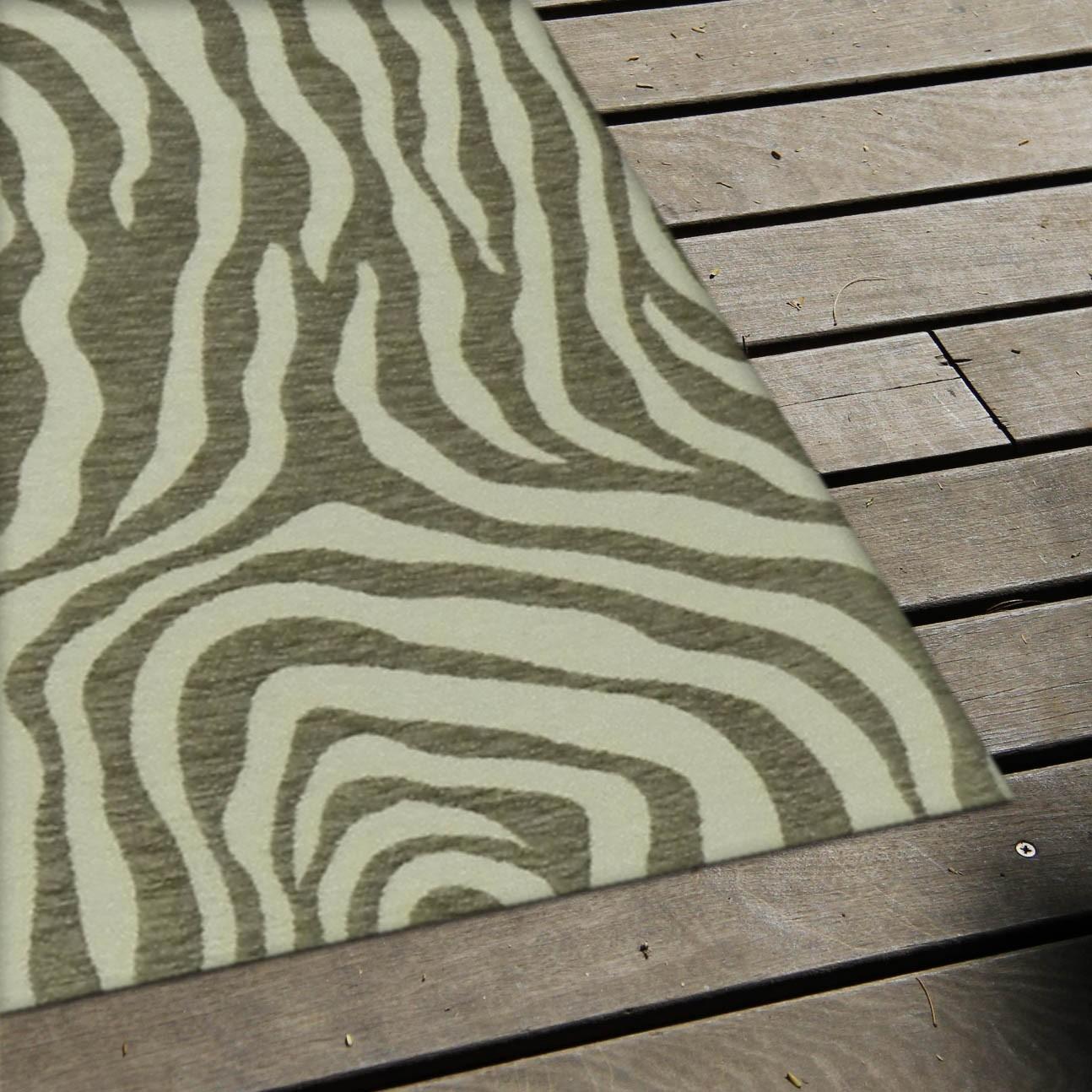 Tapete passadeira zebra caramelo bege for Zebra tapete