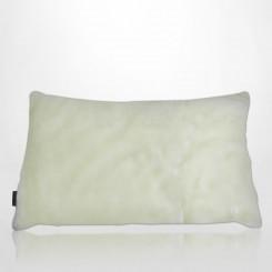 Almofada envelope pele ecológica mink branco