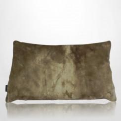 Almofada envelope pele ecológica mink caramelo