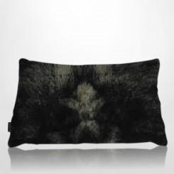 Almofada envelope pele ecológica lobo