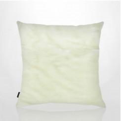 Almofada Sem Aba Pele Ecológica Mink Branco