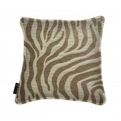 Almofada Com Debrum Zebra Caramelo / Bege