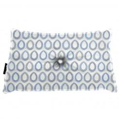Almofada Frizada Envelope Sacara Azul com Botão