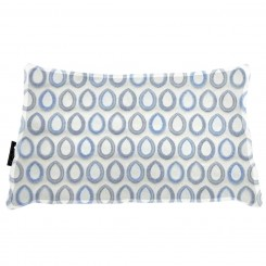 Almofada Frizada Envelope Sacara Azul