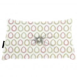 Almofada Frizada Envelope Sacara Ferrugem com Botão