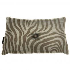 Almofada Frizada Envelope Zebra Caramelo Bege