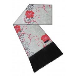 Manta para sofá valentin cinza/ vermelho