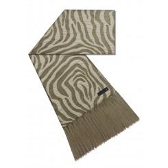 Manta para sofá zebra caramelo bege