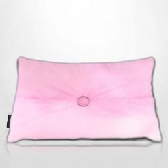 Almofada Frizada Envelope Tafetá Rosa