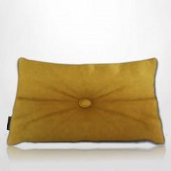 Almofada Frizada Envelope Tafetá Mostarda