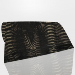 Tapete Retangular Pele Ecológica Zebra