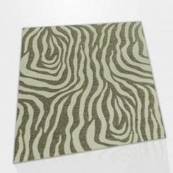 Tapete Quadrado Zebra Caramelo Bege