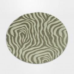 Tapete Redondo Zebra Caramelo/Bege